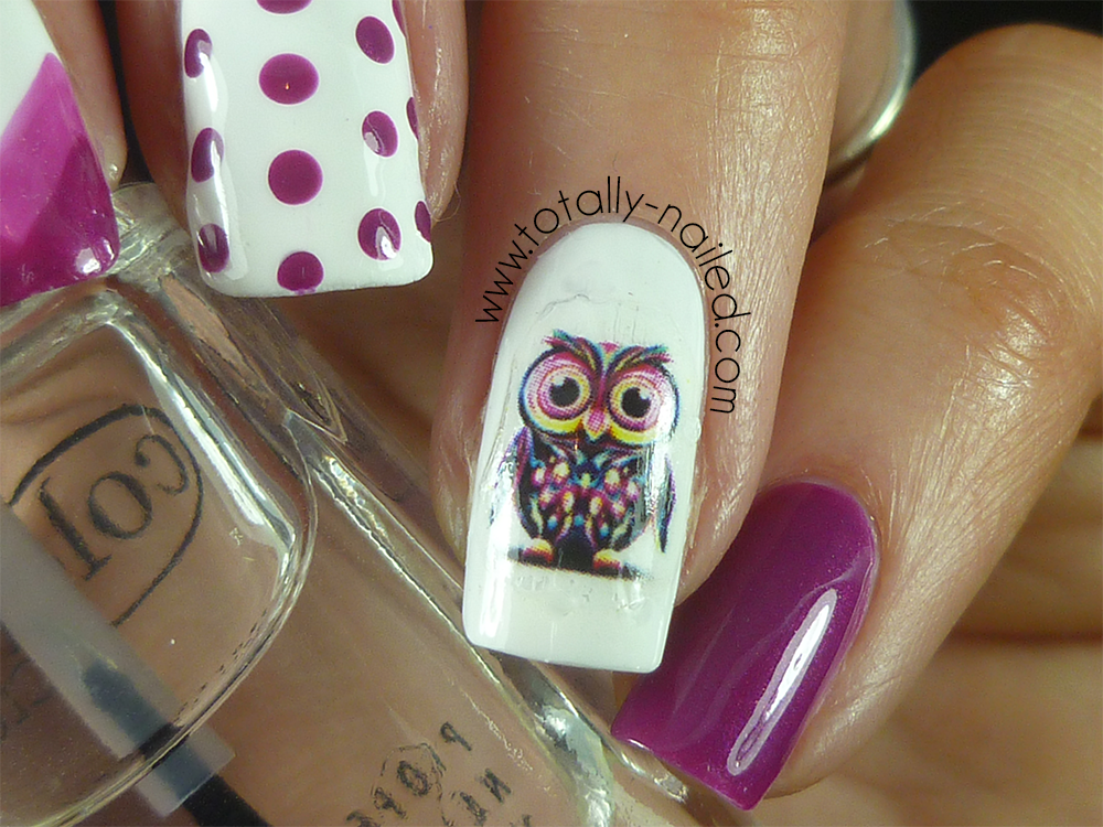 Owl Nail Decals - Owl Nail Decals And Nail Art Totally Nailed