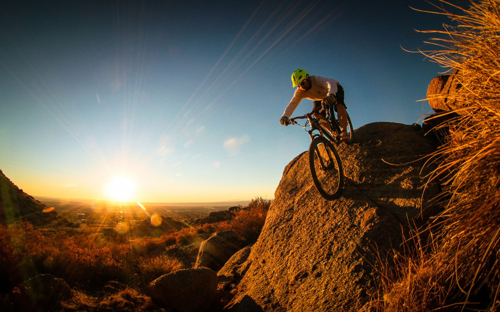 Crazy Cyclist With Mountain Bike On Hills 2013 Hd Desktop Wallpaper