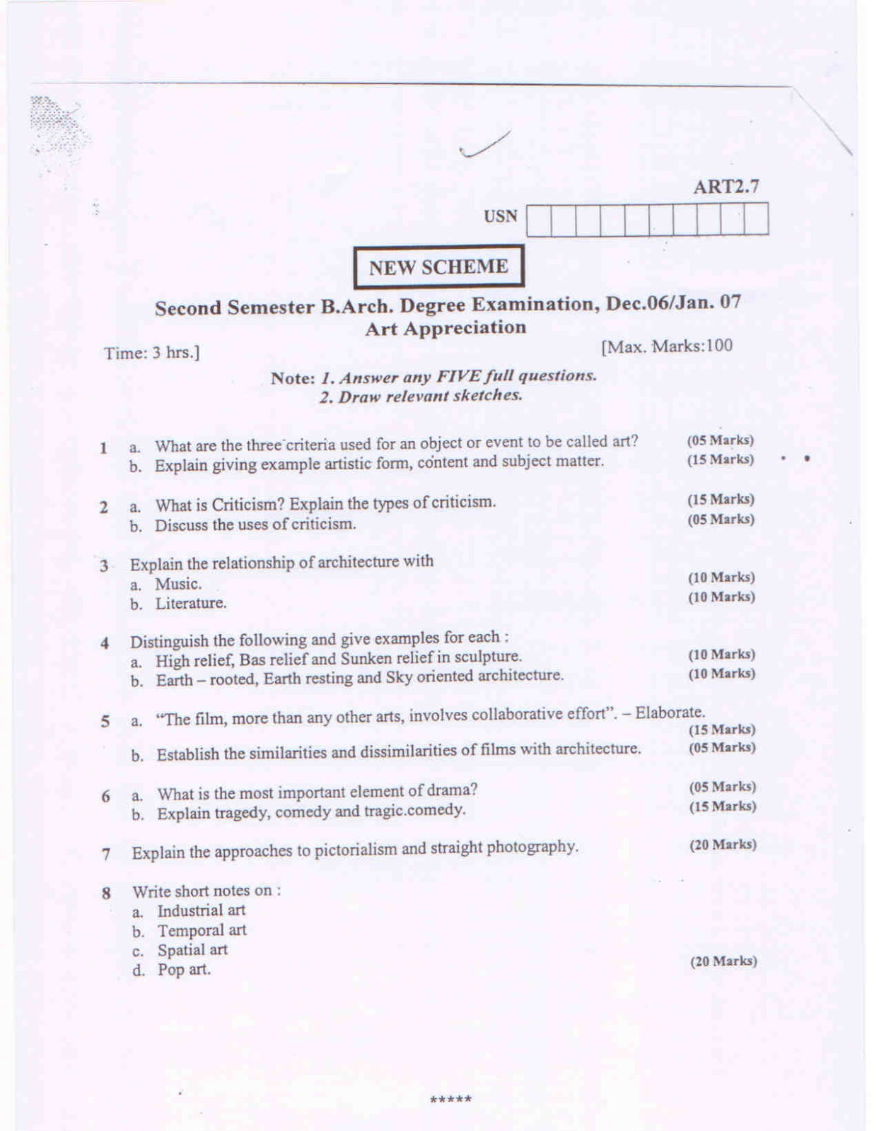 art appreciation question paper oxaviz oxaviz
