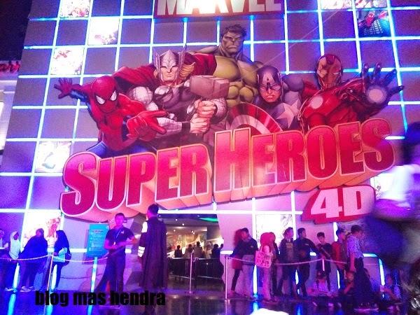 wahana super heroes 4d