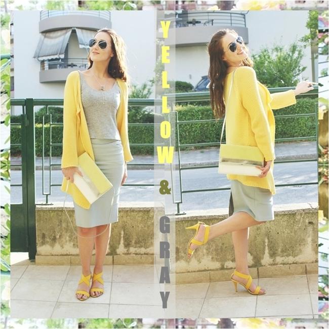 Instagram @lelazivanovic #glamfabweek.Outfit of the week:Yellow & Gray.Outfit nedelje:Zuto & Sivo.