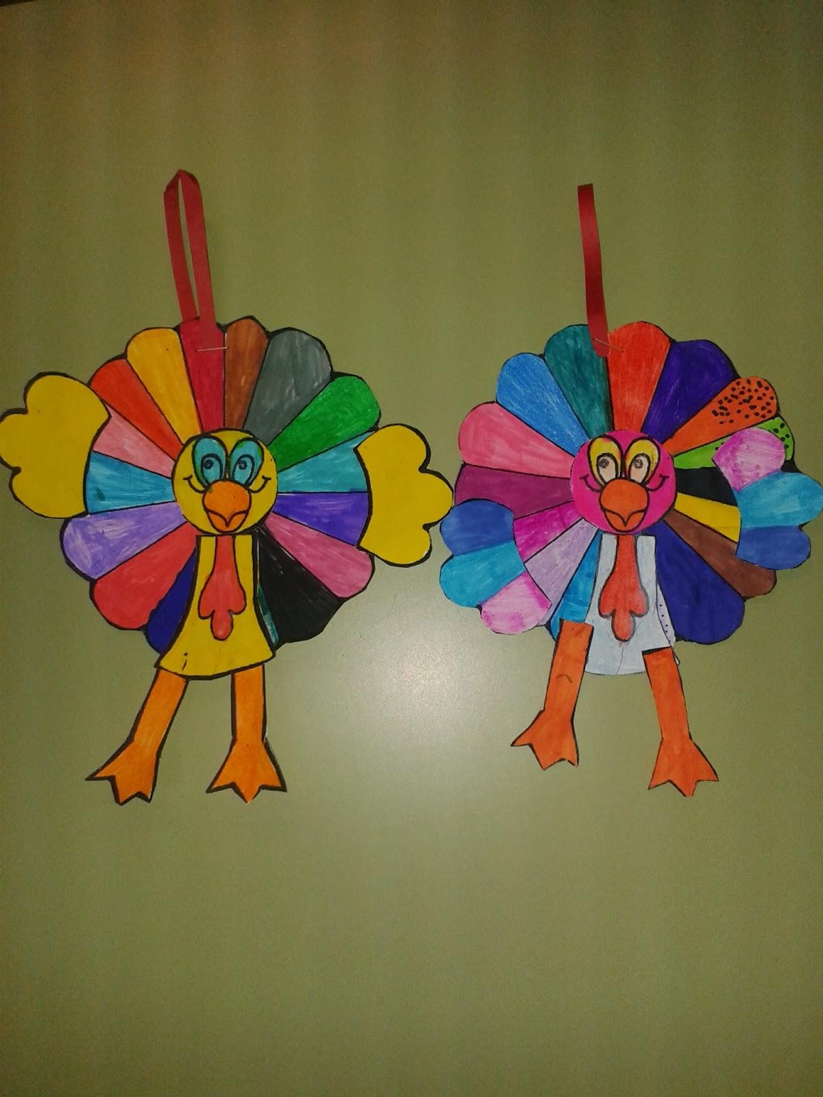 Fichas de Inglés para niños: Pavo manualidad thanksgiving day