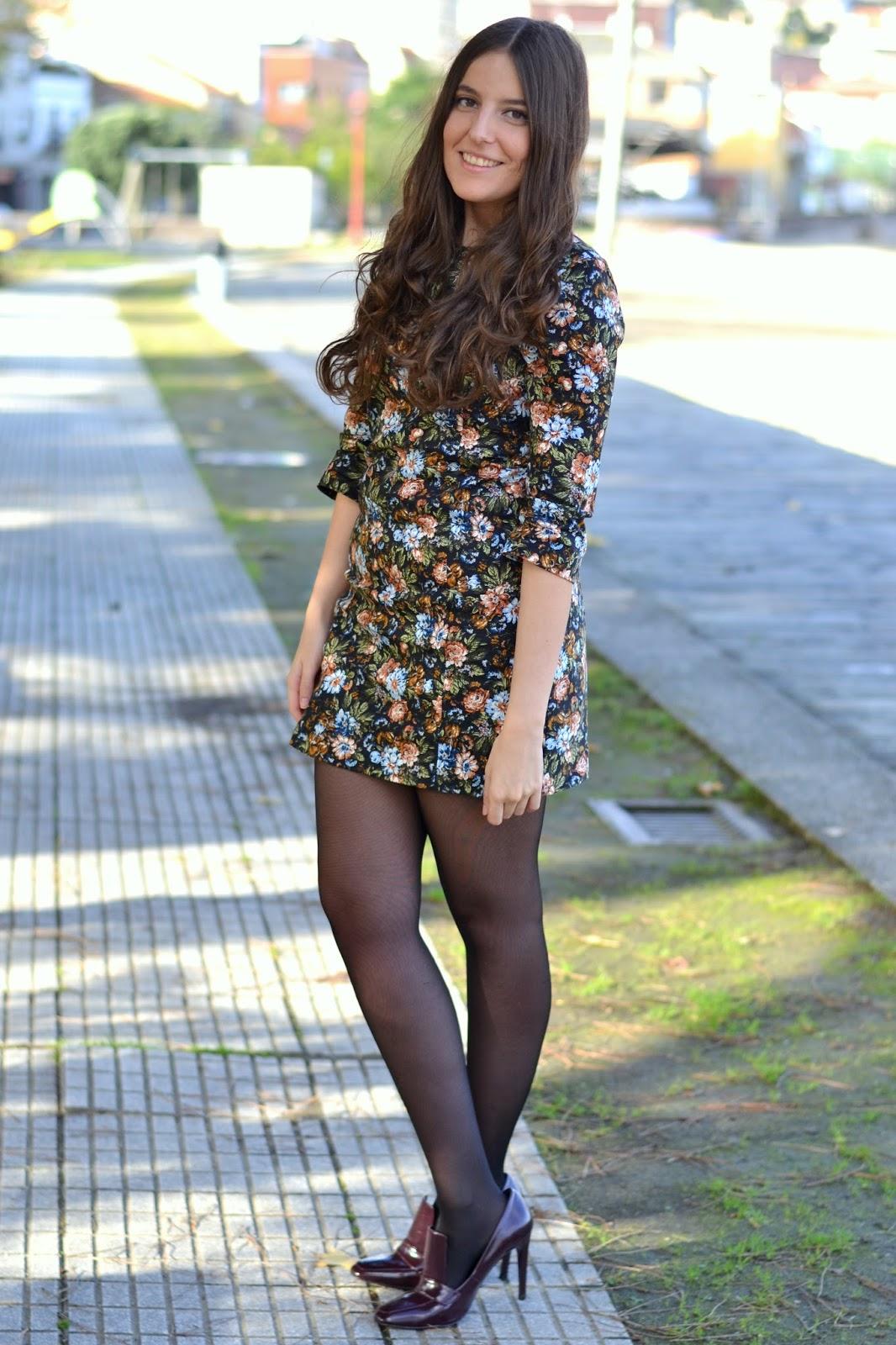 floral, print, dress, zara