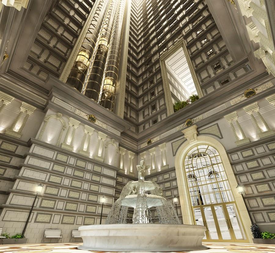 Khung cảnh bên trong chung cư dát vàng D'.Palais de Louis