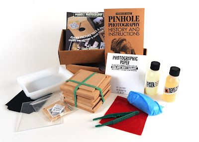 Contents of Pinhole photography kit from Flights of Fancy.