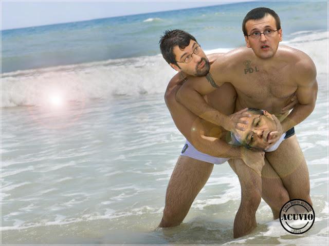 Funny photo Sever Voinescu Cristian Preda