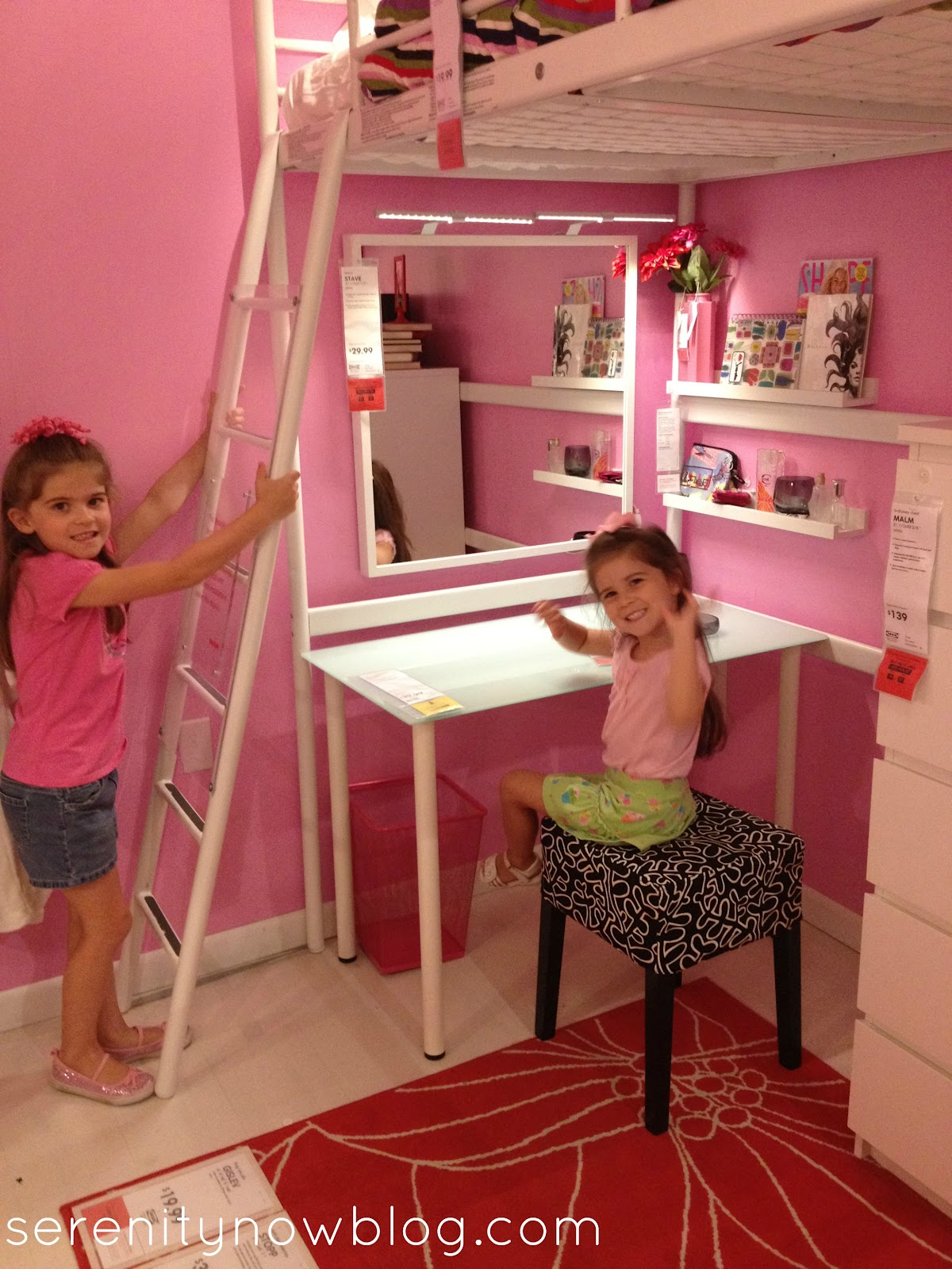 Girls Loft Bed Under this loft bed: