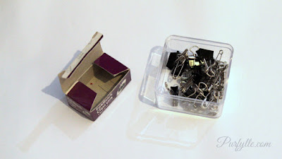 Consolidate containers no matter how small, clips go in with the safety pins
