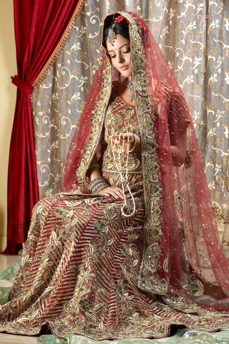 The cultural heritage of india bridal lehengas wedding for Indian bridal wedding dresses