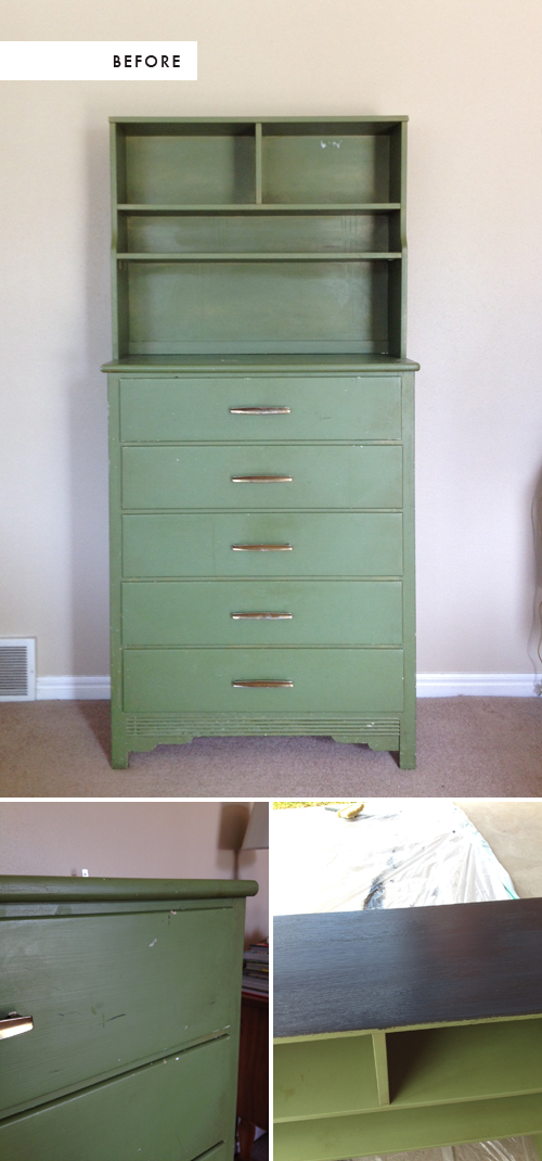 refinishing a flea market find with Farrow and Ball paint