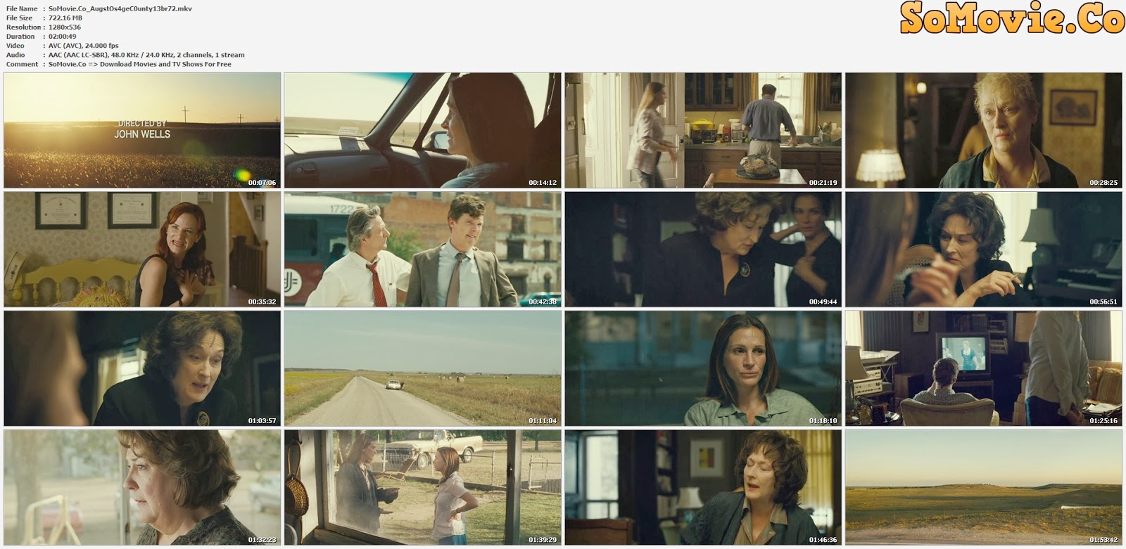 movie screenshot of August: Osage County fdmovie.com