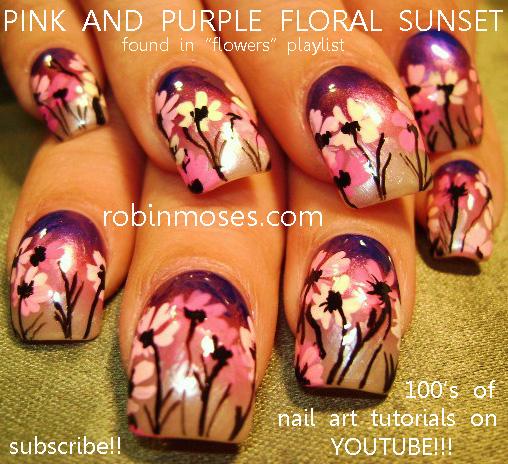 Pink Daisy Nail Art Design Pink And Purple Daisy Nail Daisy Nail