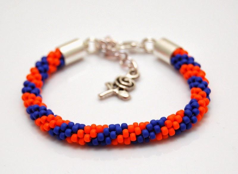 bransoletka koralikowa szydełkowa bead crochet bracelet 3