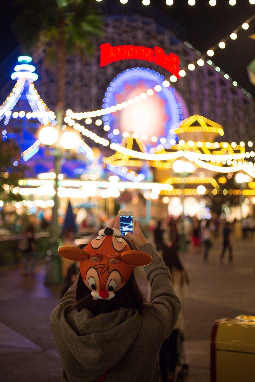 Disneyland's California Adventure California Screaming at Night Time
