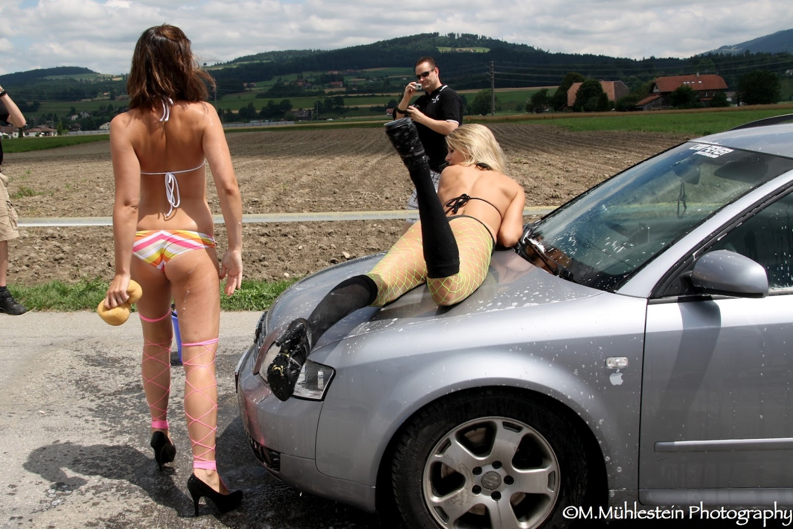 Hot sexy girls car wash