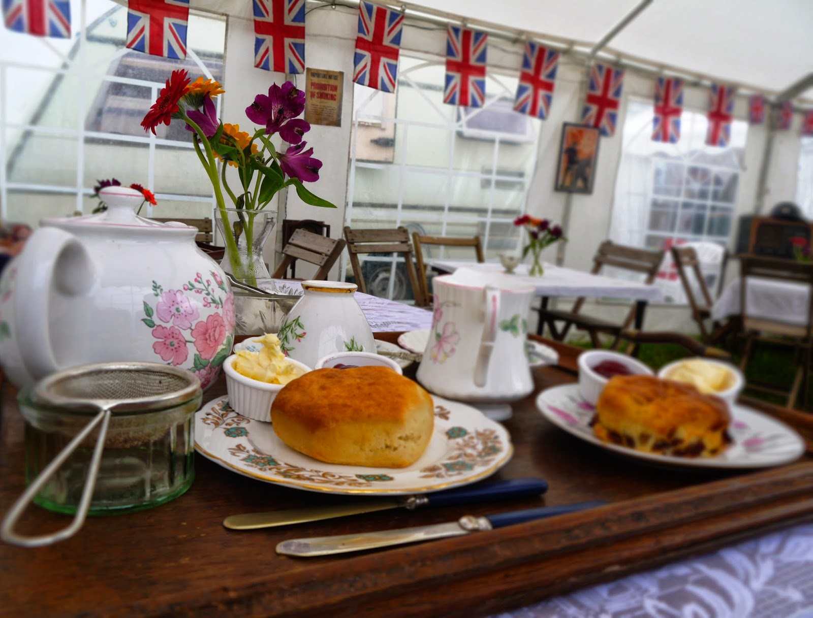 Cream tea at Selwood Steam Rally