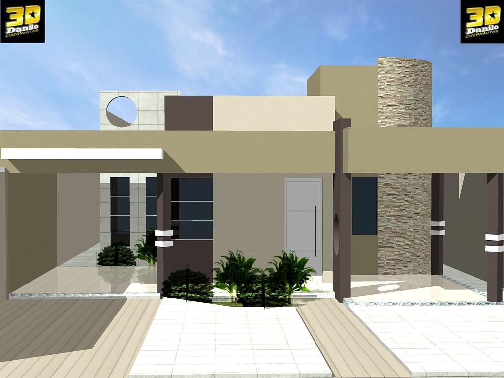 3danilo maquetes eletr nicas 3d fachada 3d casa no for Casas 3d