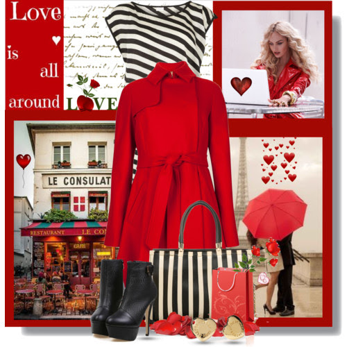 Valentine's Day, Ted Baker, red coat