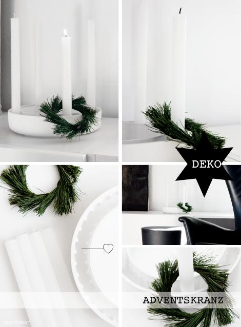 raumideen weihnachtsdeko ein adventskranz selber binden. Black Bedroom Furniture Sets. Home Design Ideas