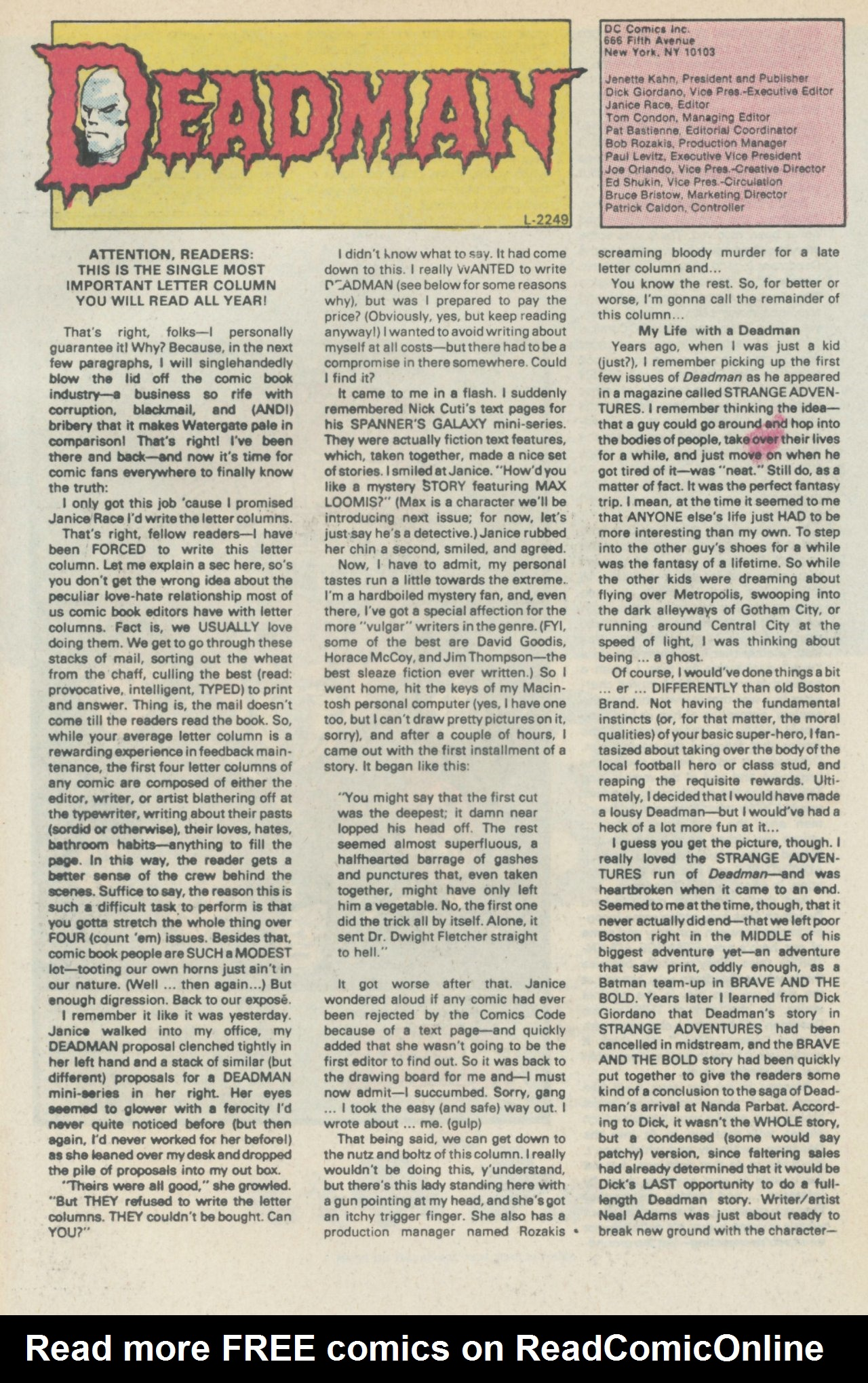 Deadman (1986) #1 #4 - English 34
