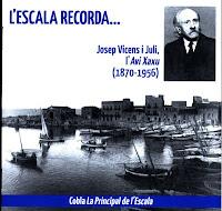 Portada del CD L'Escala Recorda Josep Vicens 'Xaxu'