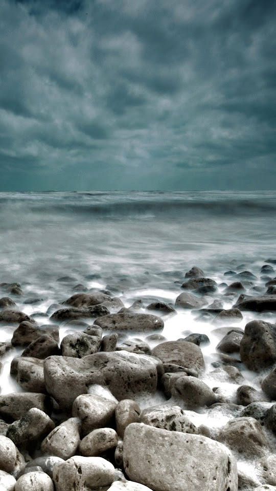 Rough Sea Rocks Waves Lockscreen  Galaxy Note HD Wallpaper