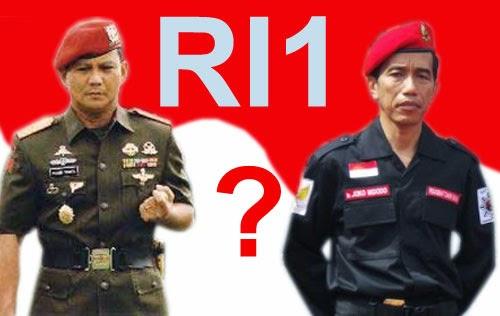 Calon Presiden Prabowo vs Jokowi