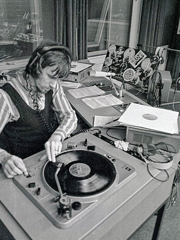 Winfrid Trenkler en 1974 dans les locaux de la WDR / photo Lucky2