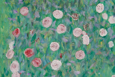 Klimt: Roses Under the Tree detail