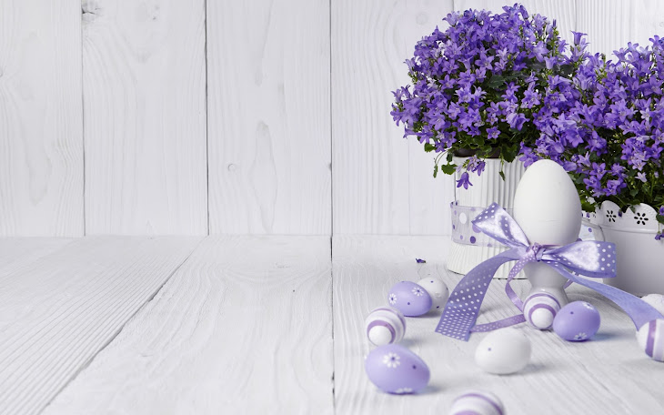 Easter Eggs with Lavender