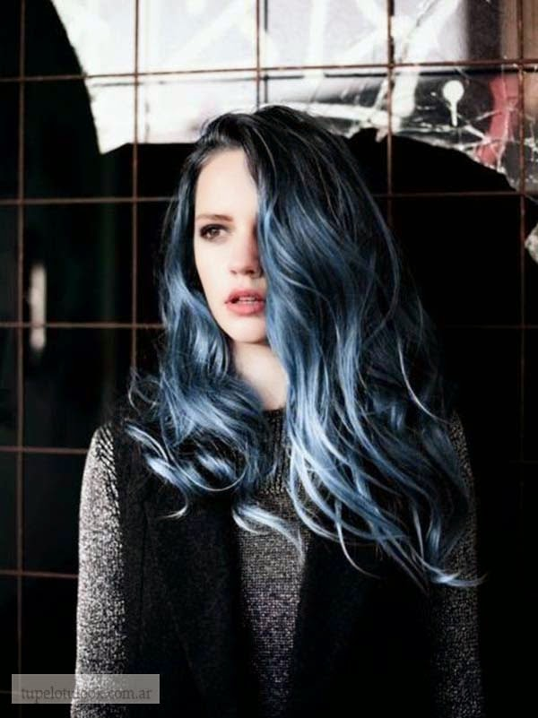 color de pelo 2015 azul