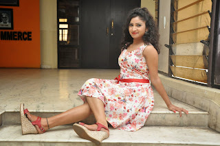 Actress Vishnu Priya Latest Pictures in Short Dress at Nenu Naa Friends Movie Press Meet  70.JPG