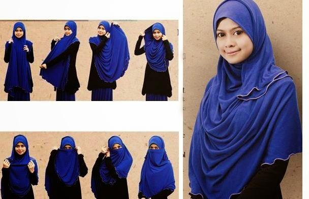 tutorial jilbab segi empat untuk wajah bulat tutorial jilbab segi ...