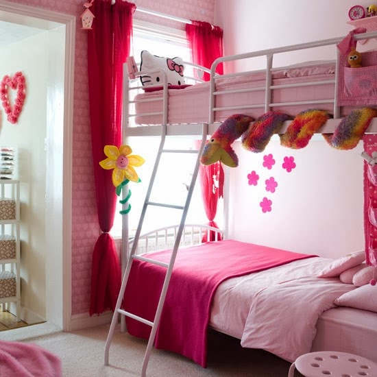 berbagai desain kamar hello kitty unik untuk anak
