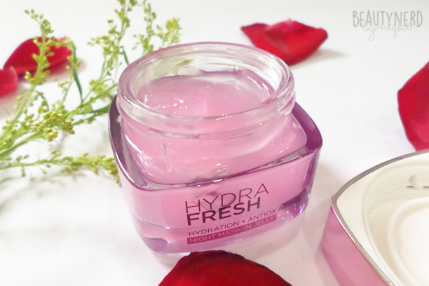 L'Oreal HYDRAFRESH Night Mask-In Jelly | Beauty Nerd By Night