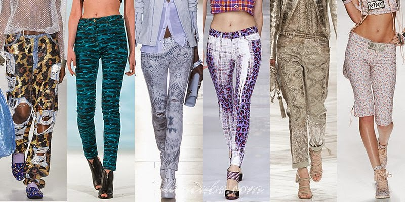 Spring 2014 Women's Jeans Fashion Trends