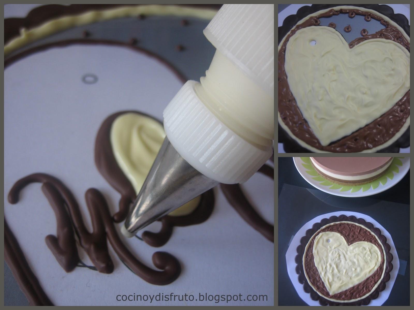 Cocino y disfruto decoraci n con chocolate paso a paso - Decoracion con chocolate ...
