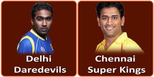 DD VS CSK on 18 April 2013