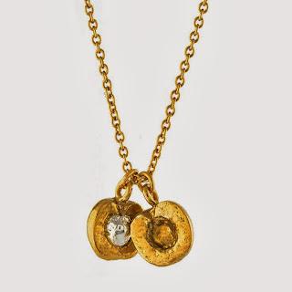 Alex Monroe Split Peach Necklace