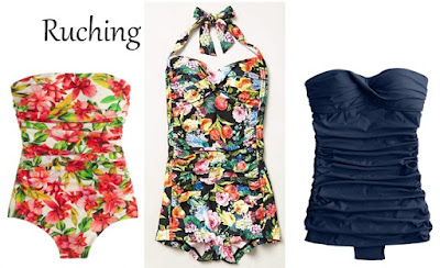 Swimsuits with ruching