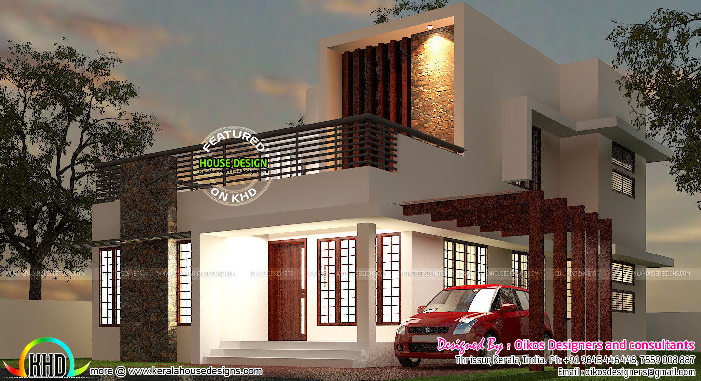 1st Floor Elevation Designs : Budget house with simple and elegant contemporary design
