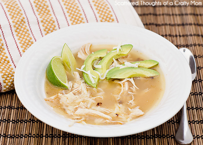 Mexican Lime Soup w/ Chicken Recipe | Scattered Thoughts of a Crafty ...