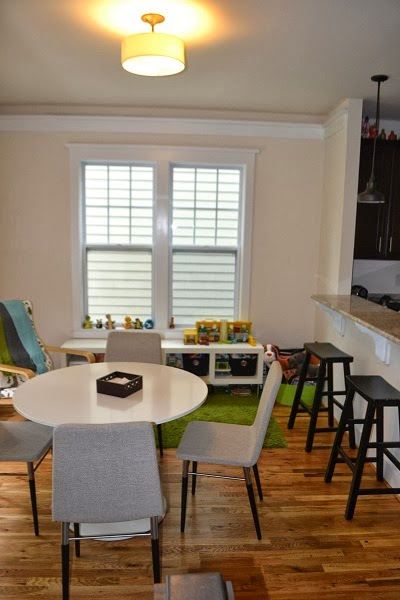 never listless dining room update organized play area