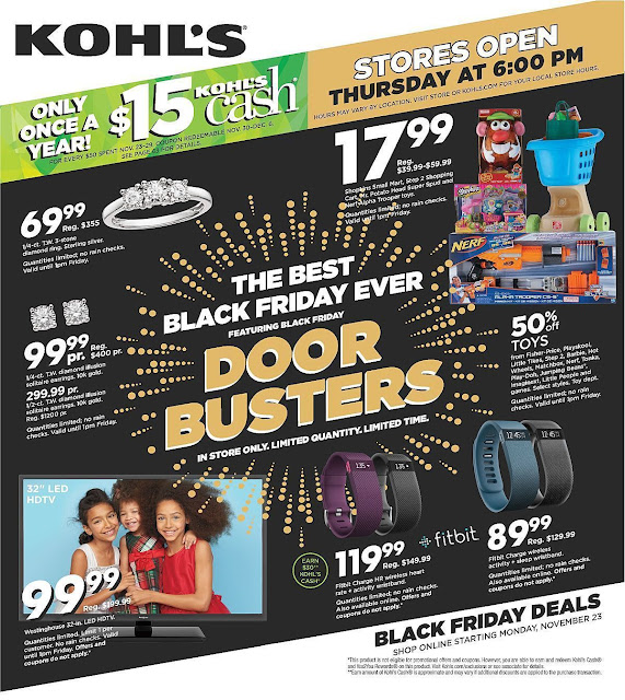 black friday kohls sale 2015 ad