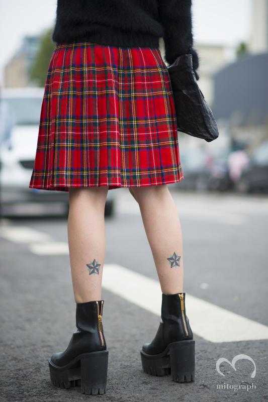 Woman wears Stella Mccartney shoes during Milan Fashion Week MFW 2014 Spring Summer Season
