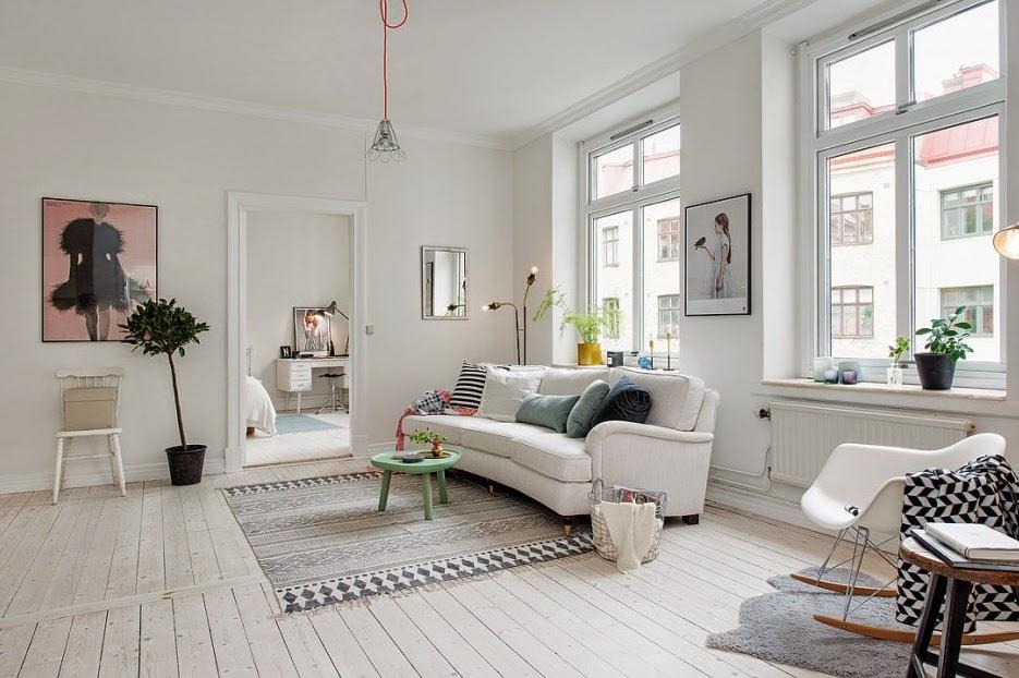 Una casa encantadora decorada en blanco - Casas decoradas en blanco ...
