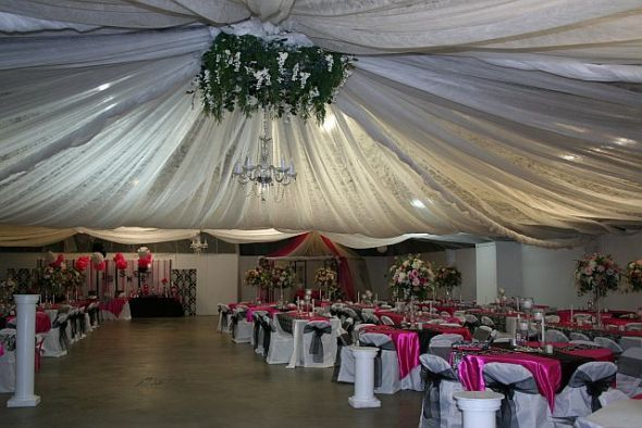 Power to Personalize Your Wedding Decor Idea Ceiling Draping