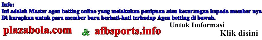 Daftar Agen Bola Penipu 2013