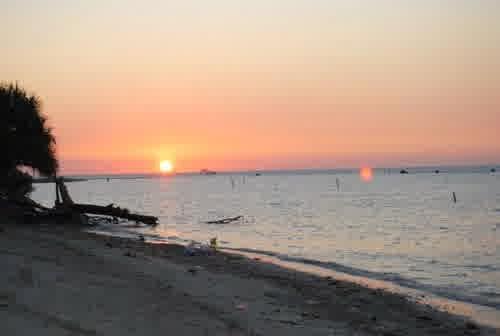 sunset di pantai bandengan jepara