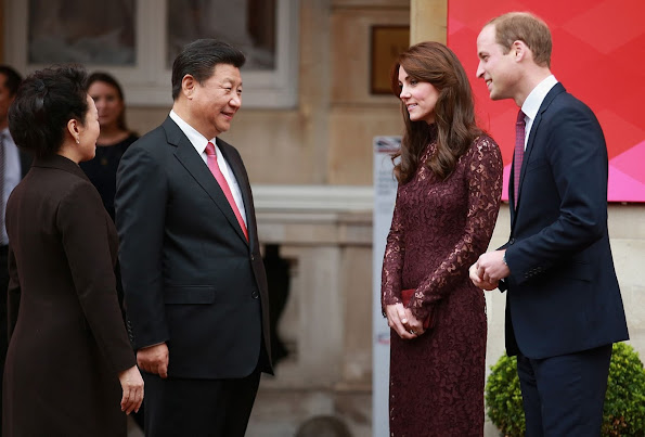 Kate Middleton attends a BAFTA presentation with Chinese President Xi Jinping at Lancaster House